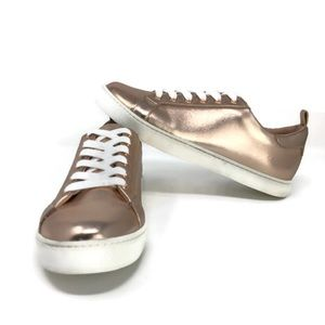 Aldo Rose Gold Lace-Up Sneakers